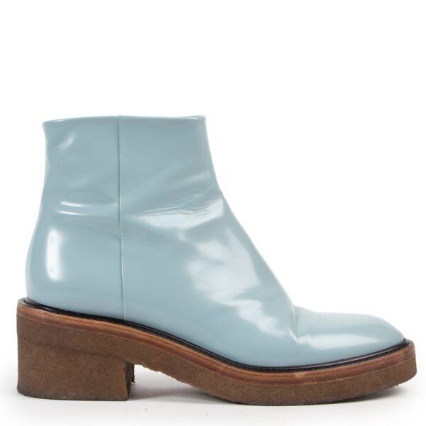 Shop safe online 100% authentic Dries Van Noten boots, Blue preloved Dries Van Noten boots, Dries Van Noten boots in good preloved condition