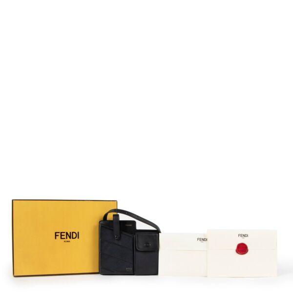 Fendi Black Two-pocket Mini Messenger Bag