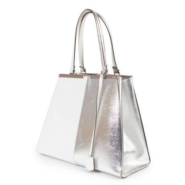 Fendi White Silver 3Jours Shoulder Bag