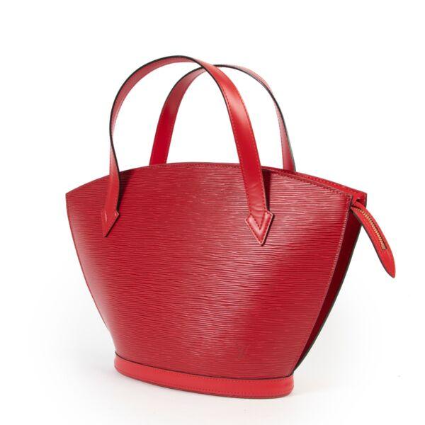 Louis Vuitton Red Epi Leather Saint Jacques Top Handle Bag