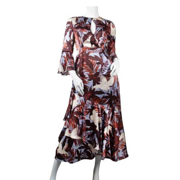 Shop safe online 100% authentic Erdem multicolor dress, Beautiful Erdem dress in very good condition, Preloved Erdem multicolor dress in very good condition