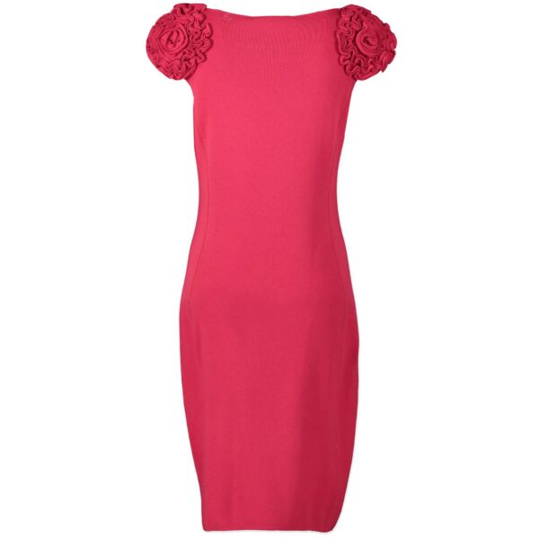 Valentino Red Cashmere Dress - size IT42