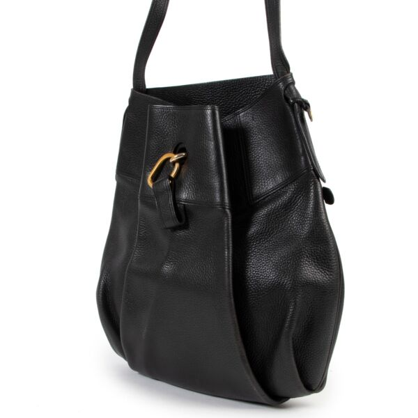 Delvaux Black Leather Shoulder bag