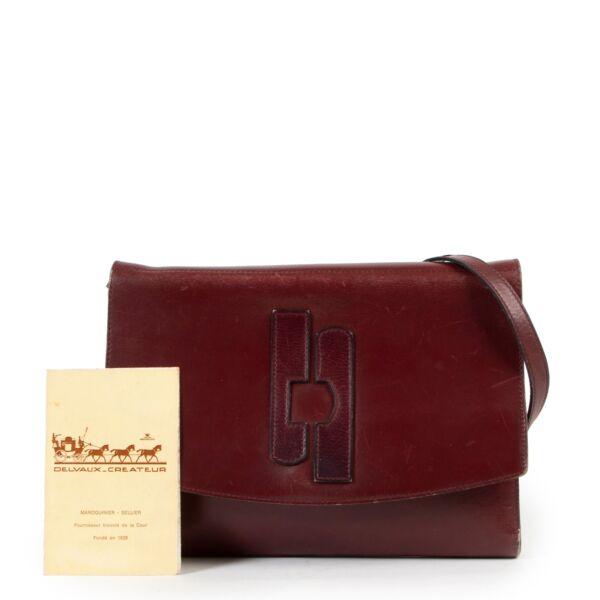 Delvaux Burgundy Shoulder bag