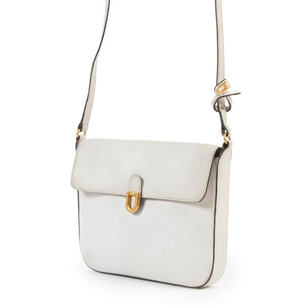 Delvaux White Leather Crossbody Bag