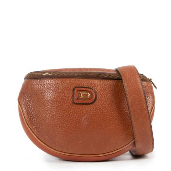 Delvaux Brown Leather Crossbody on safe site in original state