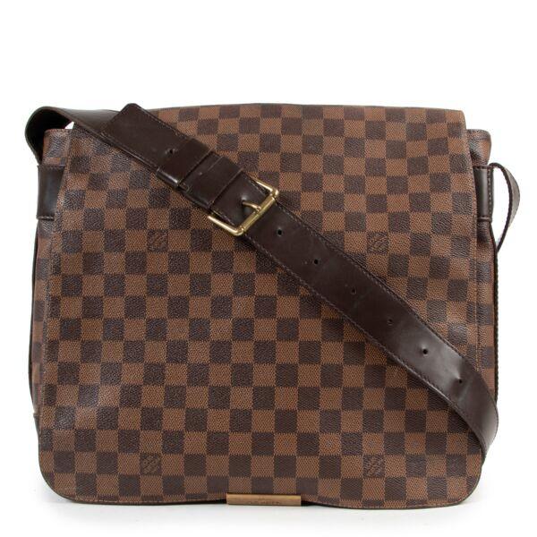 Preloved Louis Vuitton Ebene Bastille Brown Monogram Leather Crossbody in good condition