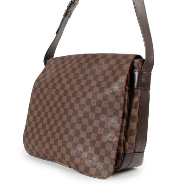 Louis Vuitton Ebene Bastille Brown Monogram Leather Crossbody Bag
