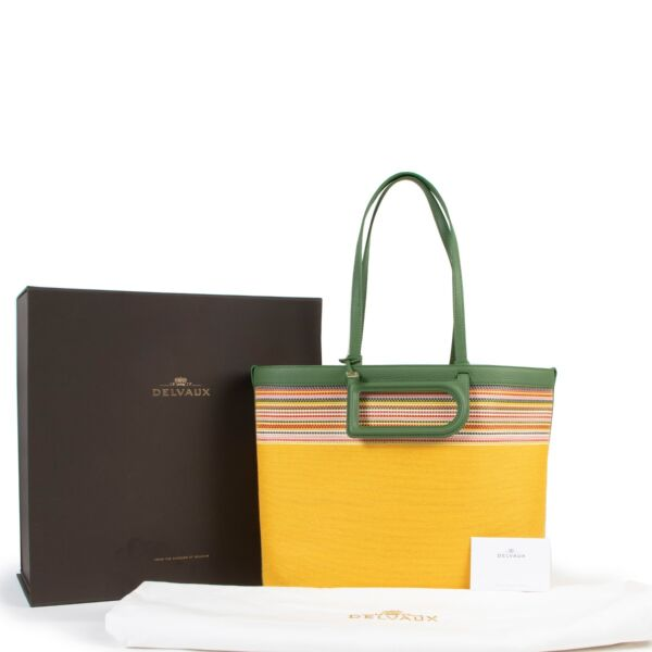 Delvaux D to D MM Toile Sangle Taurillon Empire