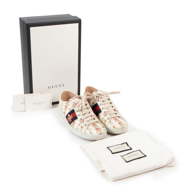 Gucci Ace Soft Low Bee Sneakers - size 38