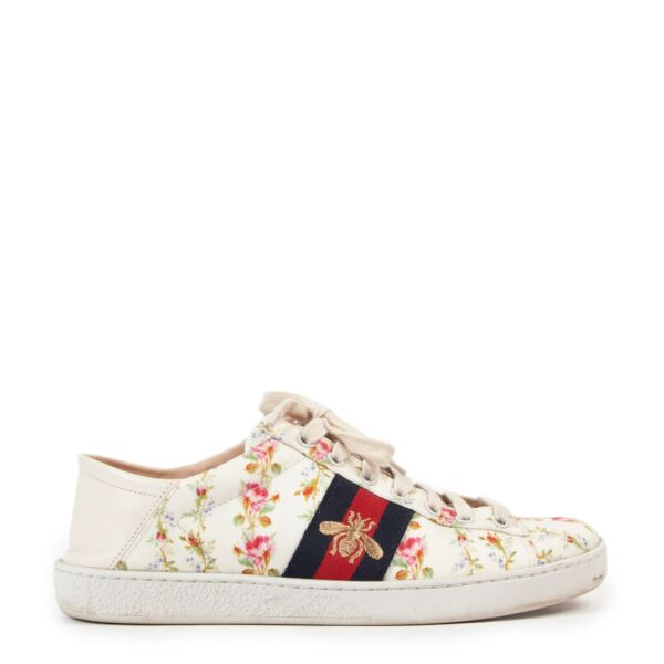 Sneakers Gucci Soft Low Bee with a floral touch in good condition on Labellov
