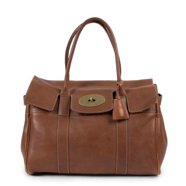 Shop safe online Mulberry shoulder bag in brown leather
