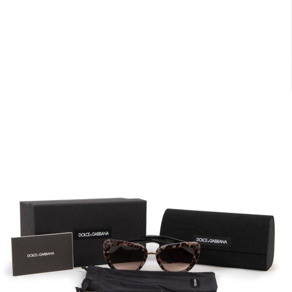Dolce & Gabbana Leopard Glasses