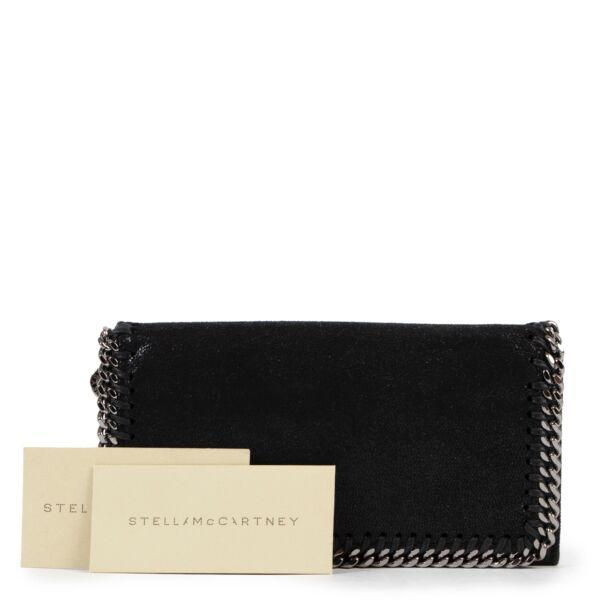 Stella McCartney Black Falabella Continental Wallet