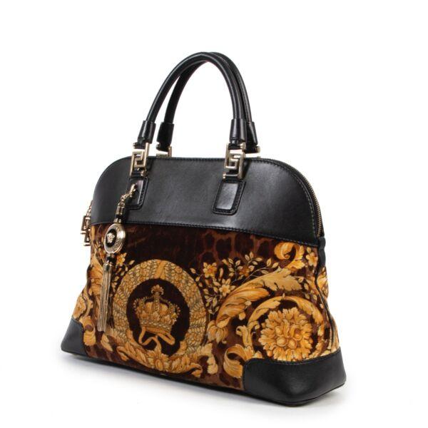 Versace Velours Printed Shoulder Bag