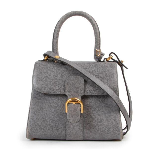 Delvaux Grey Brillant Mini + Strap available at Labellov for a fair price and in good condition, online or in store.