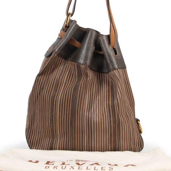 Delvaux Brown Toile De Cuir Shoulder Bag