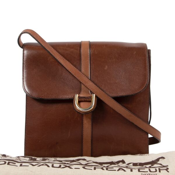 Delvaux Brown Crossbody Bag