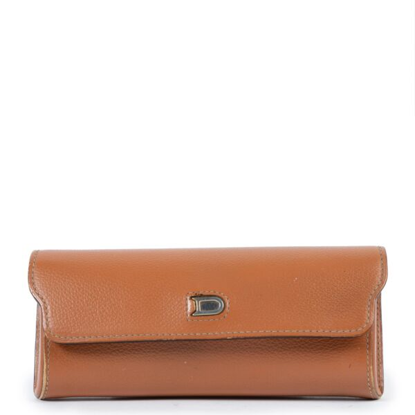 This Delvaux Cognac Sunglass Case is available at Labellov online or in store in Antwerp
