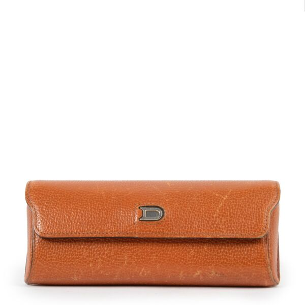 Delvaux Cognac Sunglass Case available at Labellov for a reasonable price online or in store in Antwerp.