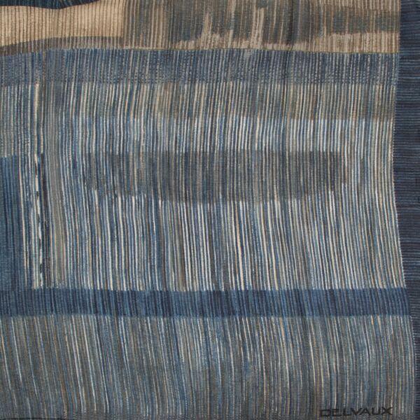 Delvaux Blue Striped Scarf