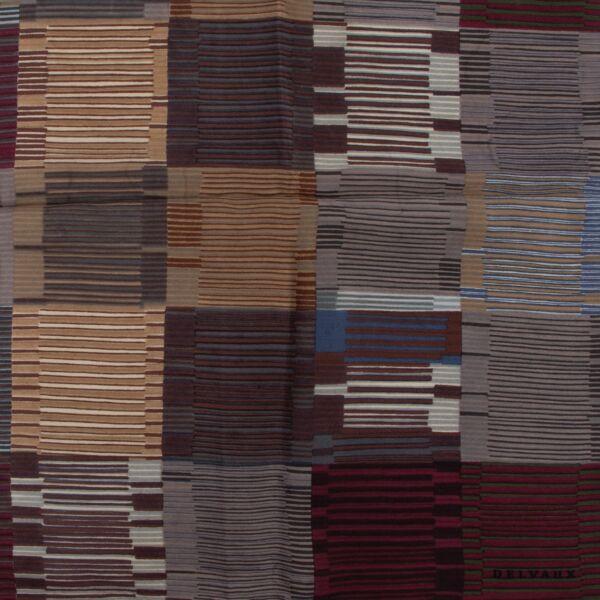 Delvaux Multicolor Striped Scarf