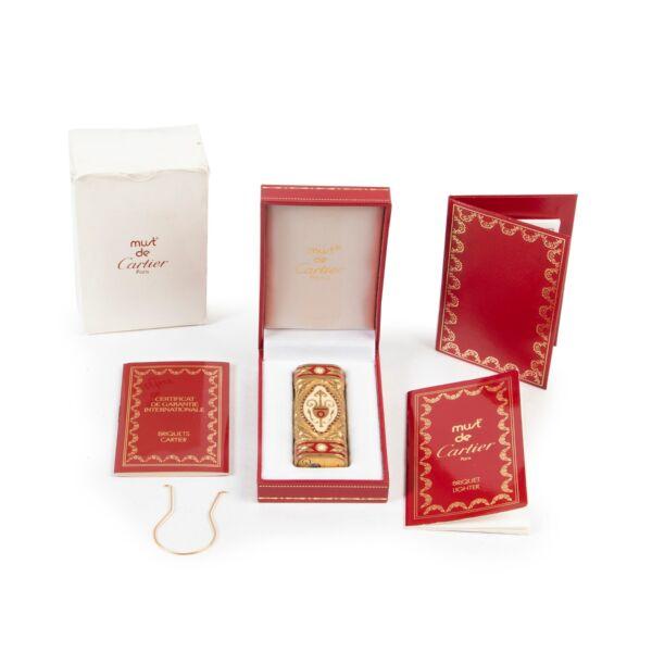 Must De Cartier Gold Saphire Lighter