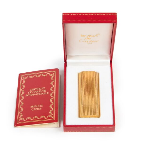Cartier Gold Cube Lighter