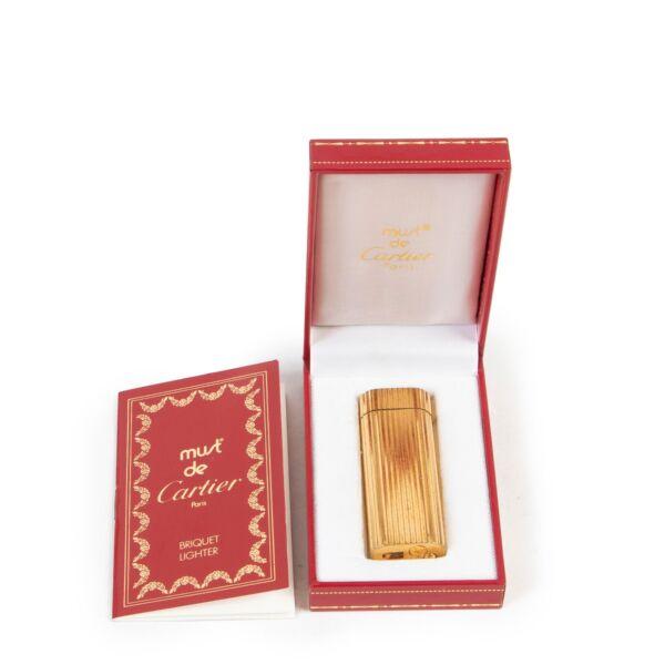Must de Cartier Gold Stripe Lighter