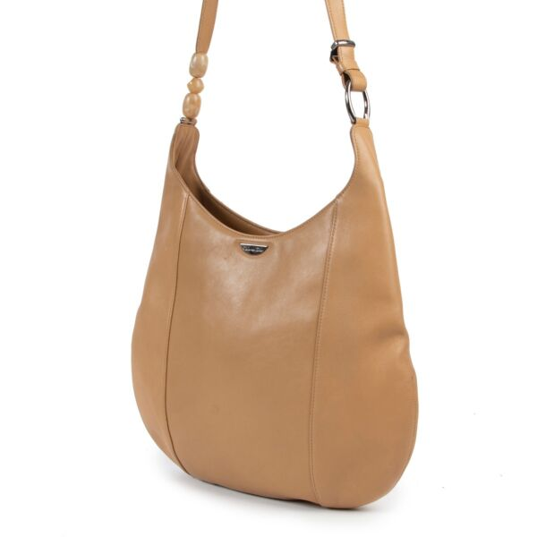 Christian Dior Camel Leather Shoulder Bag