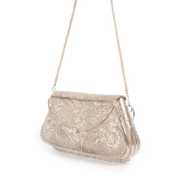 Vintage Silver Top Handle Bag