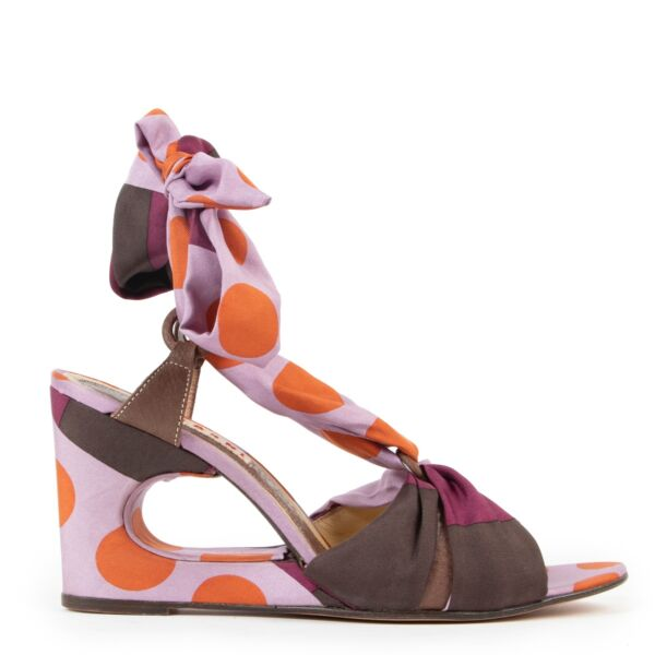 Shop safe online 100% authentic second hand Marni Multicolor Sandals in size 40.