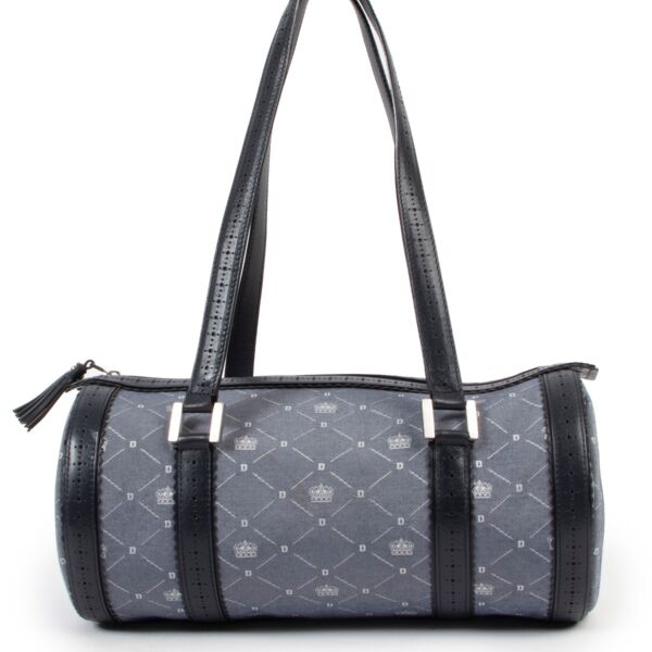 Delvaux Monogram Jeans Bowling Top Handle bag in very good condition on Labellov luxury 2nd hand designer website