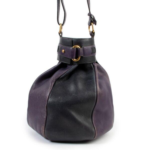 Delvaux Purple Black Le Dix-Sept Bucket Bag