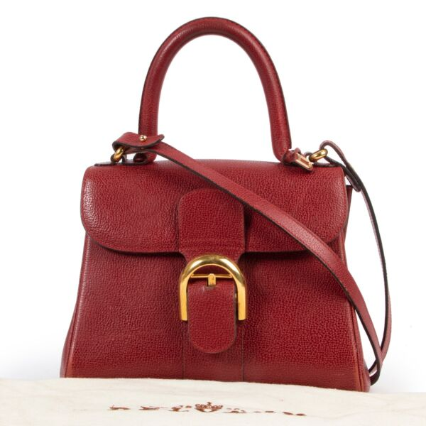 Delvaux Red Leather PM Brillant Crossbody
