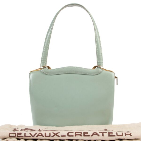 Delvaux Vintage Light Blue Top Handle Bag