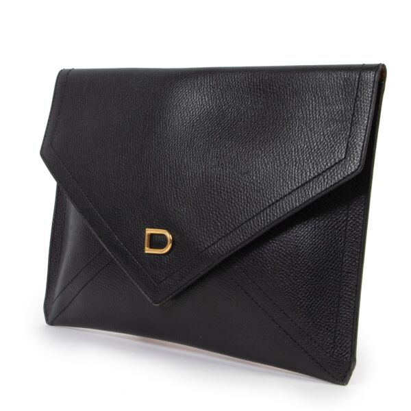 Delvaux Black D Clutch