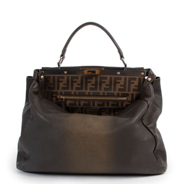 Shop safe online 100% authentic second hand Fendi Brown Ombre Peekaboo in very good condition at the right price at labellov in Antwerp.