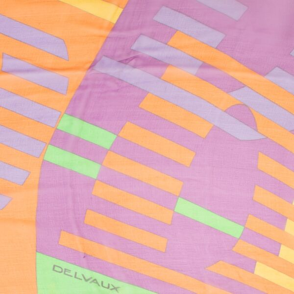 Delvaux Multicolour Mousseline Scarf