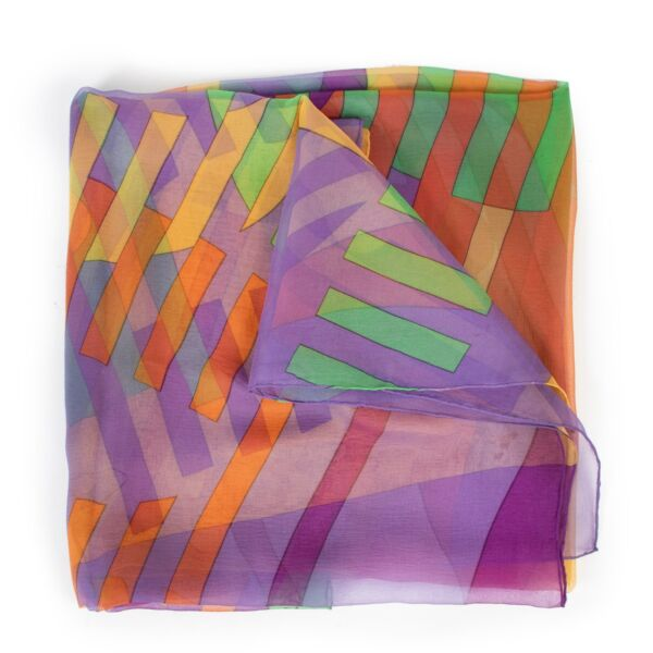 Delvaux Scarf Multicolour Mousseline at Labellov online or step by in the store in good condition.