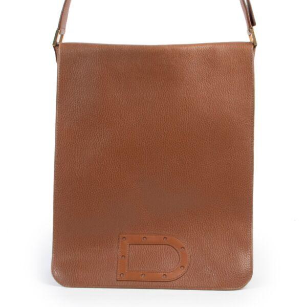 Delvaux Cognac Le Louise Baudrier GM Shoulder bag