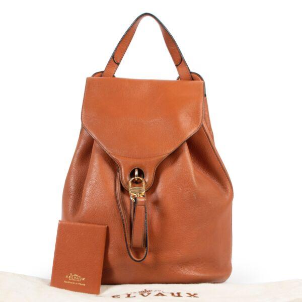 Delvaux Cognac Backpack