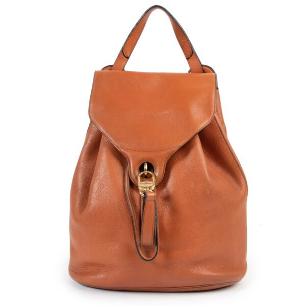 Shop safe online 100% authentic second hand Delvaux Cognac Backpack online or in store at Labellov