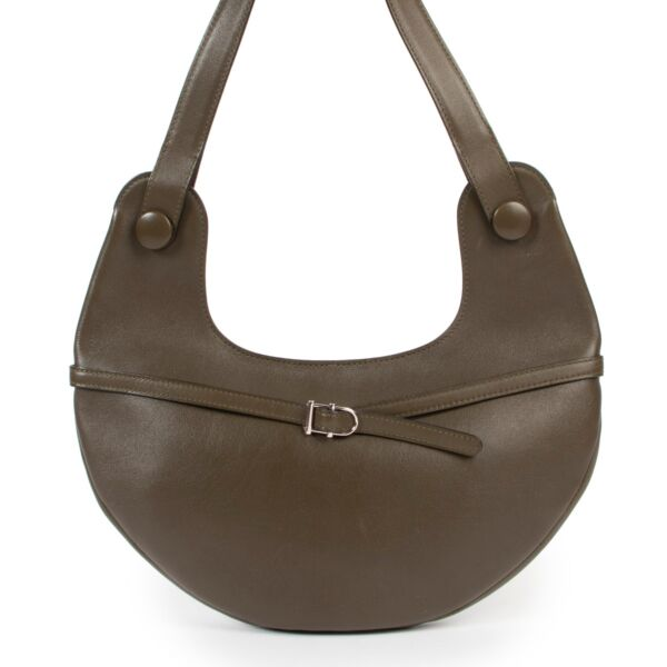 Delvaux Green Olive Leather Top Handle