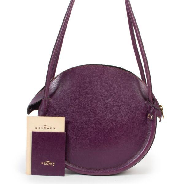 Delvaux Purple Leather Sunset Shoulder Bag