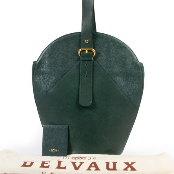 Delvaux Green Shoulder Bag