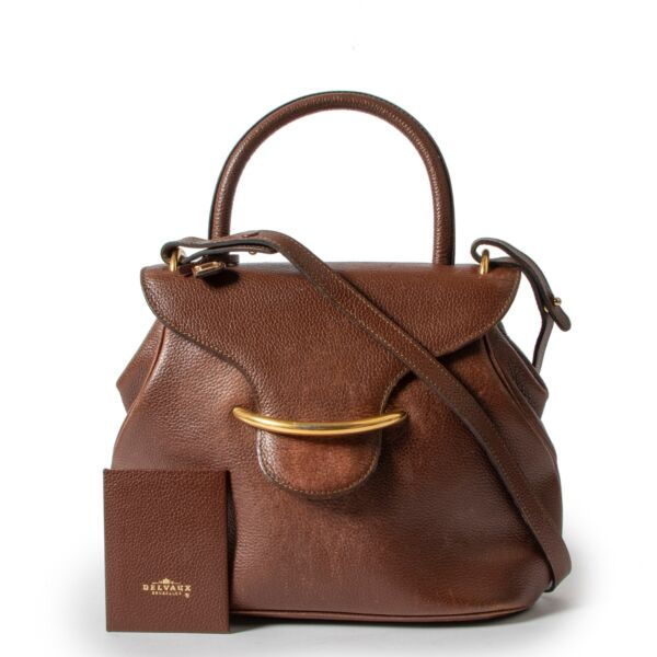 Delvaux Brown Baltimore Shoulder Bag