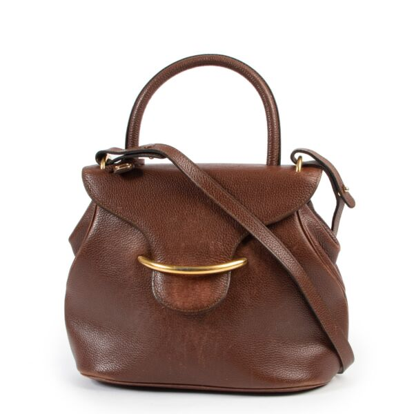 Shop safe online 100% authentic second hand Delvaux Brown Baltimore Shoulder Bag at the right price at Labellov in Antwerp.