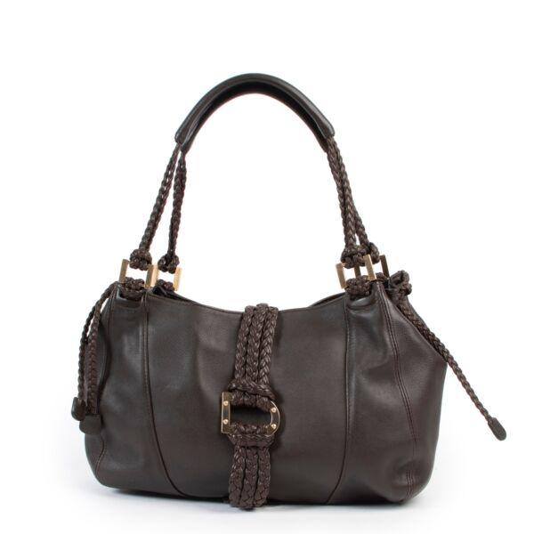 Shop safe online 100% authentic second hand Delvaux Brown Eugène Shoulder Bag at Labellov in Antwerp.