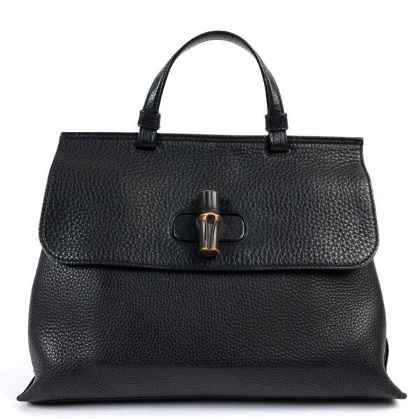 Gucci Black Leather Daily Shoulder Bag